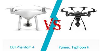 Yuneec Typhoon H atau DJI Phantom 4