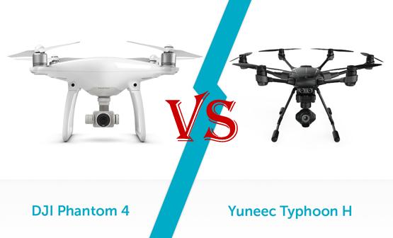 Yuneec Typhoon H VS DJI PHantom 4