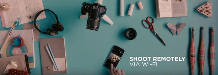kamera canon 1300d menggunakan wifi