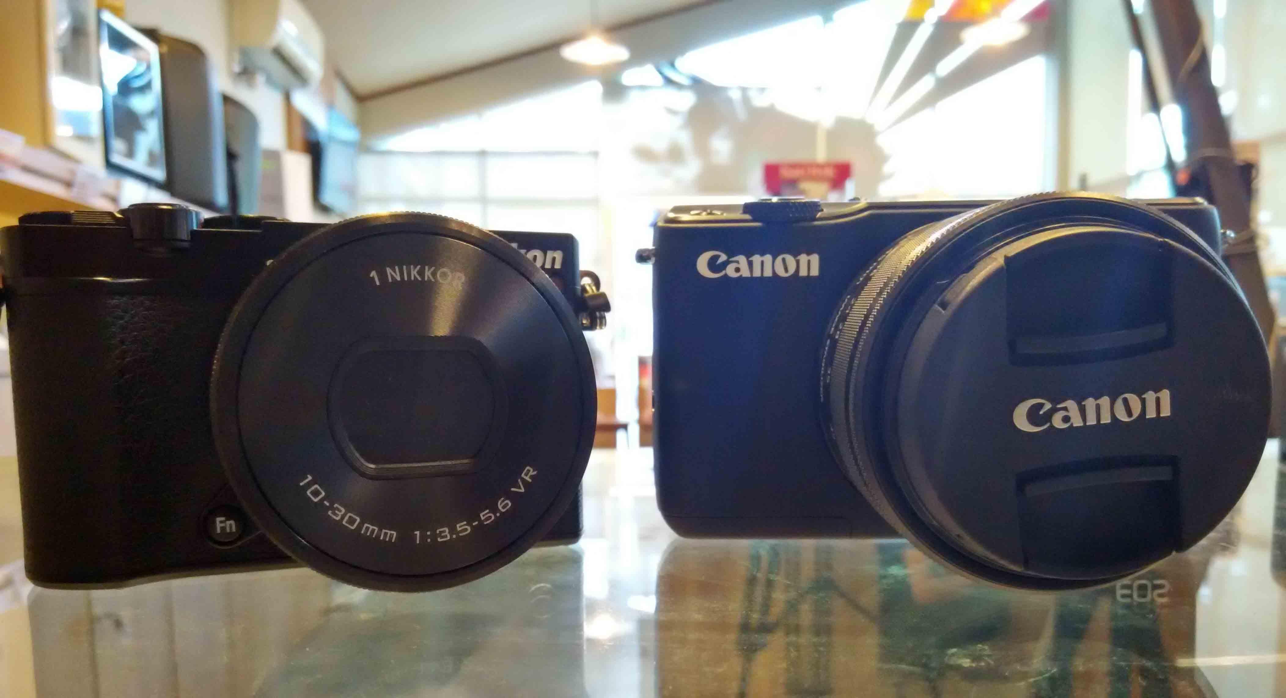 Kamera Vlog, antara Canon M10 atau Nikon 1 J5?