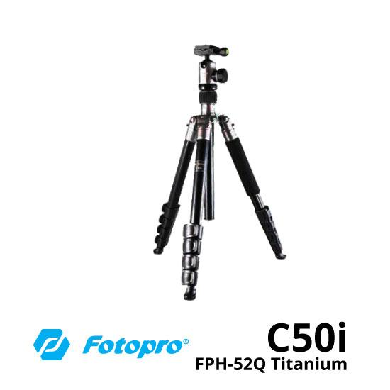 jual Fotopro Tripod C50i + FPH-52Q Titanium