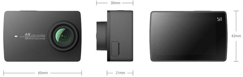 Jual Action Cam Xiaomi YI II 4K Night Black Harga Terbaik dan Termurah