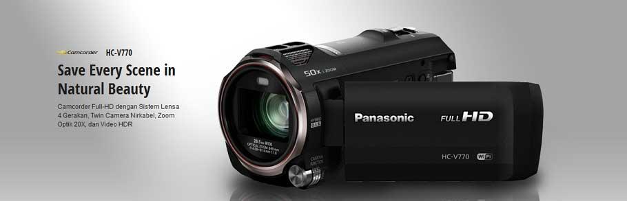 Jual Panasonic HC-V770GC-K Camcorder Surabaya Jakarta