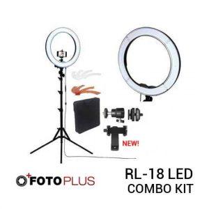 jual Fotoplus Ring Light RL-18 LED Combo Kit harga murah surabaya jakarta