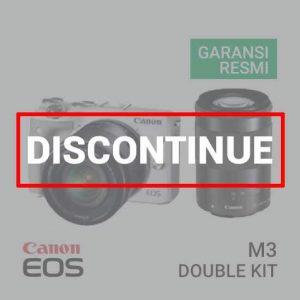 jual kamera Canon EOS M3 Double Kit II EF-M 18-55 IS STM & EF-M 55-200 IS STM harga murah surabaya jakarta