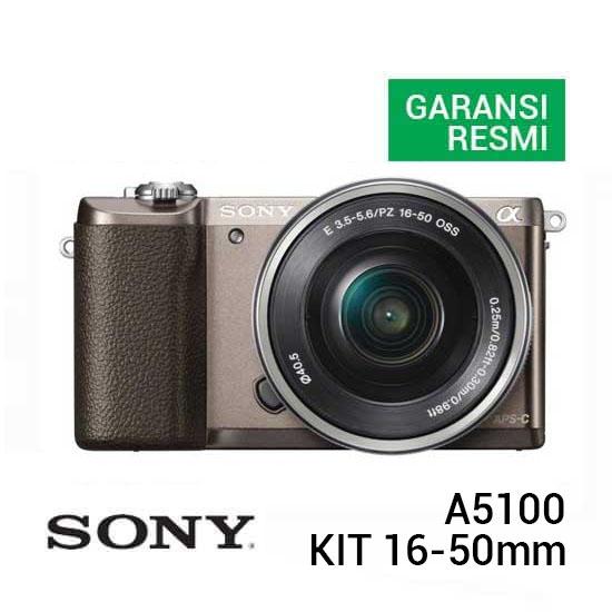 Sony A5100 Kit 16-50mm Coklat