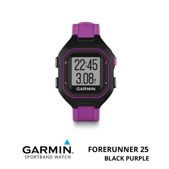 jual Garmin Forerunner 25 Black Purple