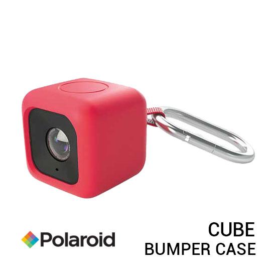 jual Polaroid Bumper Pendent Case Red for CUBE Action Camera harga murah surabaya jakarta