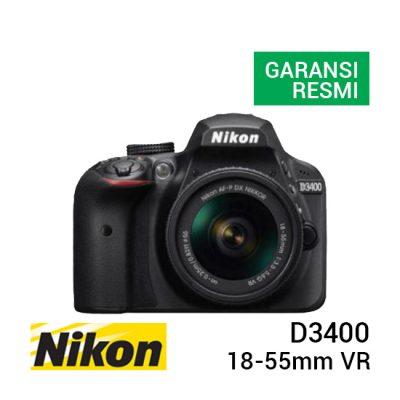 jual kamera Nikon D3400 Kit AF-P 18-55mm VR harga murah surabaya jakarta