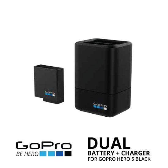 jual GoPro HERO5 Black Dual Battery Charger & Battery