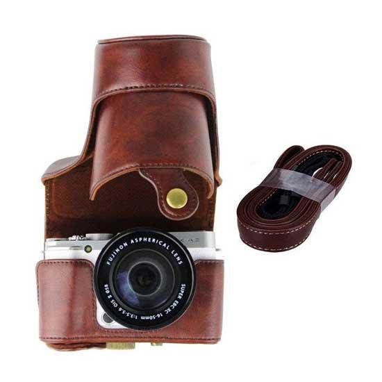 Jual Leather Case Fuji X-A2 Brown
