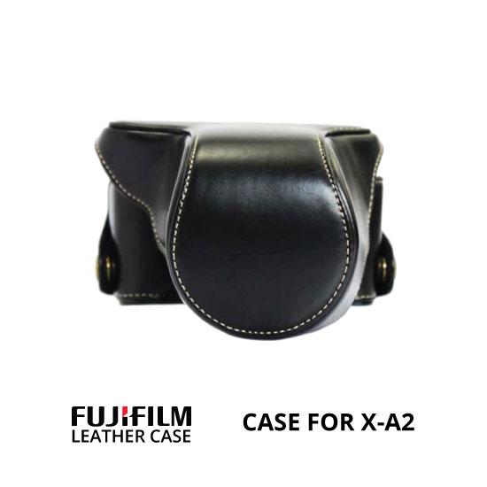 jual Leather Case Fuji X-A2 Black