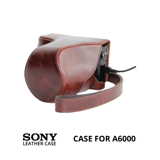 jual Leather Case Sony A6000 Brown