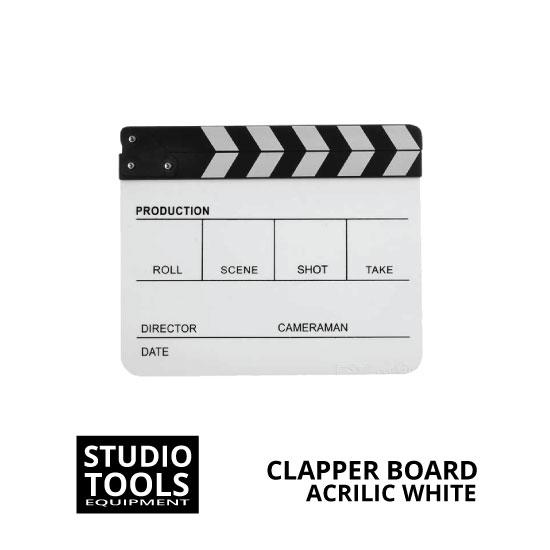jual Clapper Board Acrilic White