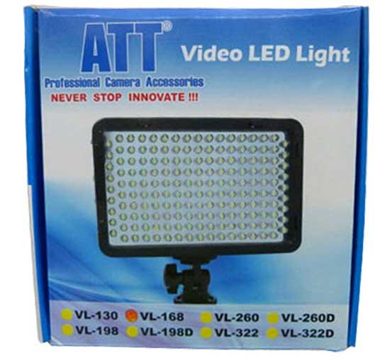 Jual ATT LED Light VL-168 + Battery + Charger