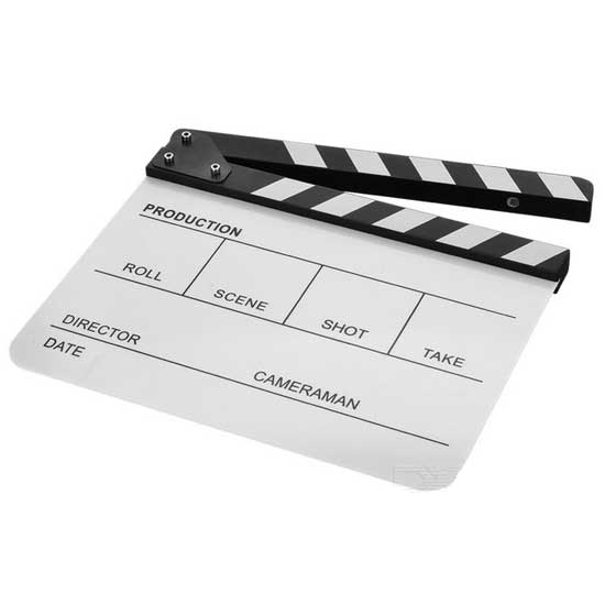 Jual Clapper Board Acrilic White