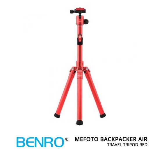 jual MeFOTO BackPacker Air Travel Tripod Red