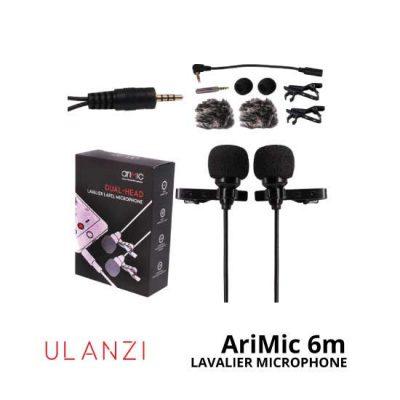 jual Ulanzi-AriMic-Dual-Head-Lavalier-Microphone-6m