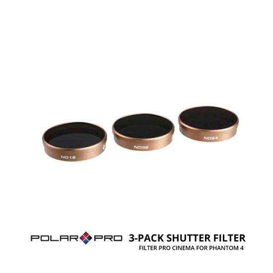 jual Polar Pro DJI Phantom 4 Cinema Series Filter 3 Pack Shutter Collection