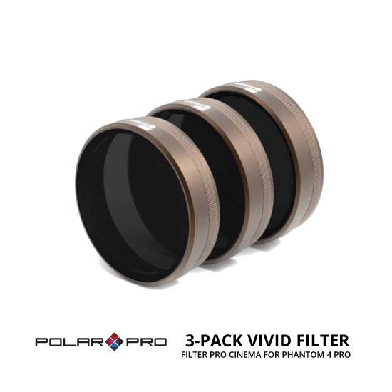 jual Polar Pro DJI Phantom 4 Pro Cinema Series Filter 3 Pack Vivid Collection