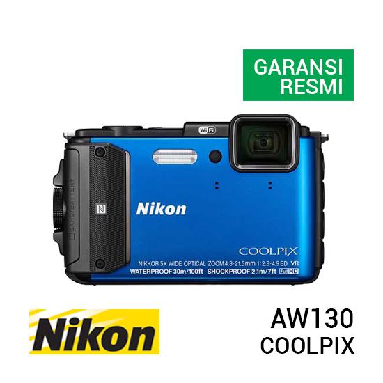 jual kamera Nikon Coolpix AW130 Blue harga murah surabaya jakarta