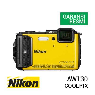 jual kamera Nikon Coolpix AW130 Yellow harga murah surabaya jakarta