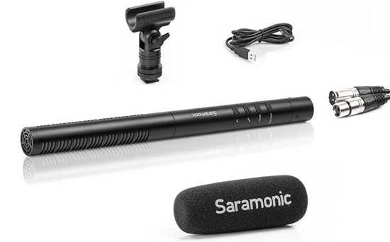 Jual Saramonic SR-TM1 Shotgun Condenser Microphone