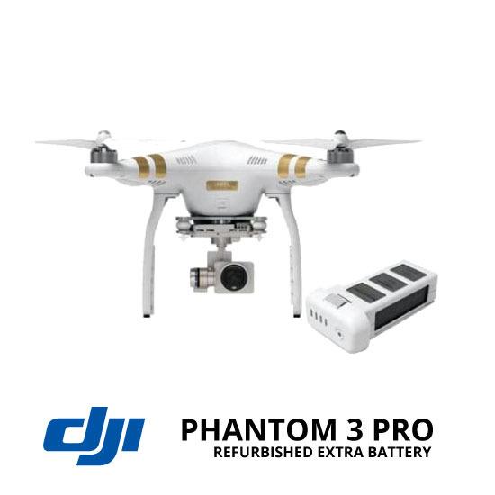 Jual DJI Phantom 3 Professional Refurbished + Extra Battery