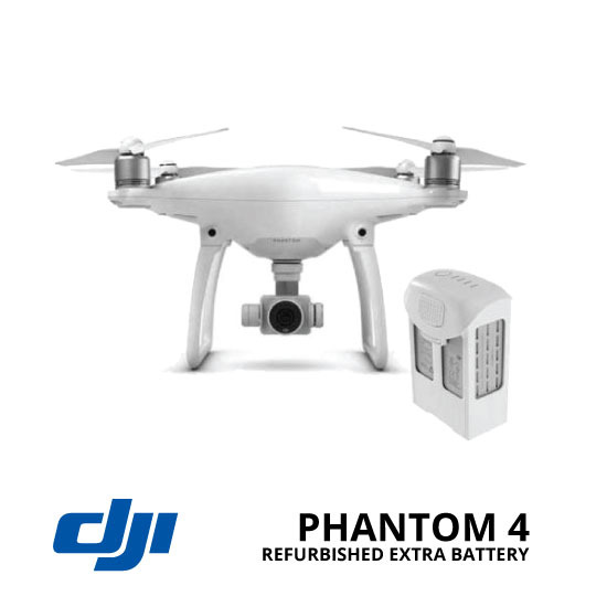 jual DJI Phantom 4 Refurbished + Extra Battery