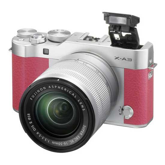 Jual Kamera Mirrorless FujiFilm XA3 kit 16-50mm Pink Murah. Cek Harga Kamera Mirrorless FujiFilm XA3 kit 16-50mm Pink disini, Toko Kamera Online Surabaya Jakarta - Plazakamera.com