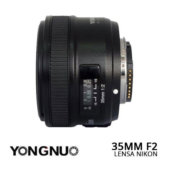 Jual Lensa YongNuo 35mm F2 Nikon Murah. Cek Harga Lensa YongNuo 35mm F2 Nikon disini, Toko Kamera Jakarta & Surabaya - Plazakamera.com
