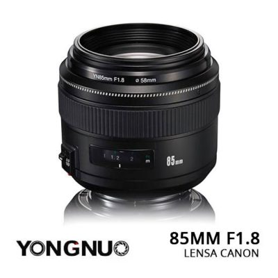 Jual Lensa YongNuo 85mm F1.8 Canon Murah. Cek Harga Lensa YongNuo 85mm F1.8 Canon disini, Toko Kamera Jakarta & Surabaya - Plazakamera.com