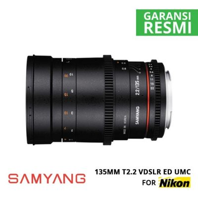 jual Samyang 135mm T2.2 VDSLR ED UMC for Nikon