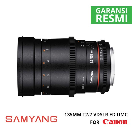 jual Samyang 135mm T2.2 VDSLR ED UMC for Canon