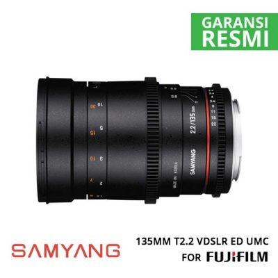 jual Samyang 135mm T2.2 VDSLR ED UMC for Fuji X