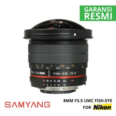 jual Samyang 8mm F3.5 UMC Fish-Eye for Nikon
