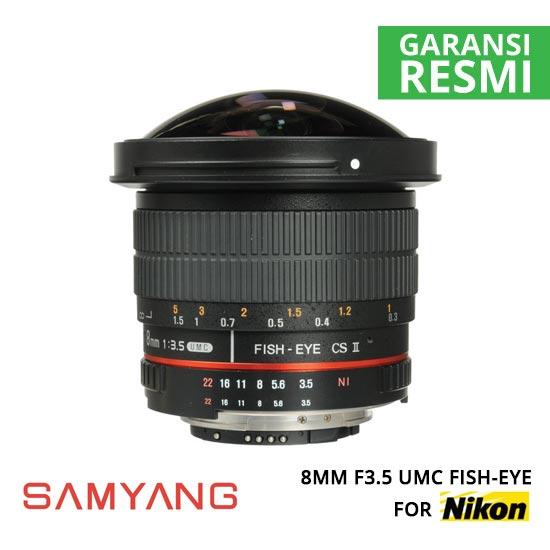 jual Samyang 8mm F3.5 UMC Fish-Eye for Nikon