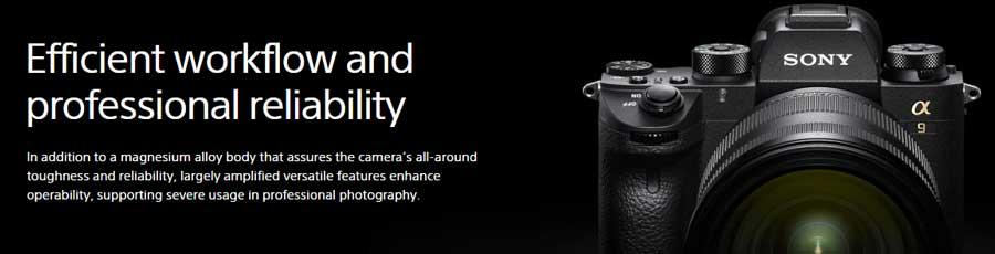Jual Kamera Mirrorless Sony A9 Body Only Garansi Resmi. Cek Spesifikasi dan Harga Kamera Mirrorless Sony A9 disini Toko Kamera Online Surabaya & Jakarta.