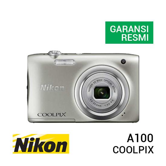 jual kamera Nikon Coolpix A100 Silver harga murah surabaya jakarta