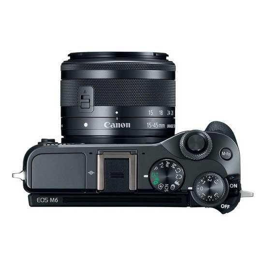 Jual Kamera Mirrorless Canon EOS M6 Kit EF-M15-45mm f3.5-6.3 IS STM Black Harga Murah Garansi Resmi. Cek Harga Kamera Mirrorless Canon EOS M6 Kit EF-M15-45mm f3.5-6.3 IS STM Black disini, Toko Kamera Online Surabaya Jakarta - Plazakamera.com