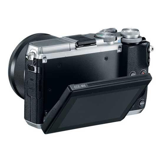 Jual Kamera Mirrorless Canon EOS M6 Kit EF-M15-45mm Silver Harga Murah Garansi Resmi. Cek Harga Kamera Mirrorless Canon EOS M6 Kit EF-M15-45mm Silver disini, Toko Kamera Online Surabaya Jakarta - Plazakamera.com