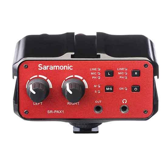 Jual Mixer Saramonic SR-PAX1 DSLR Audio Adapter Series Murah. Cek Harga Mixer Saramonic SR-PAX1 DSLR Audio Adapter Series disini, Toko Aksesoris Kamera Online Surabaya Jakarta - Plazakamera.com