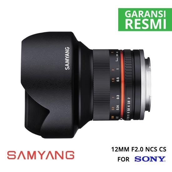 jual Samyang 12mm F2.0 NCS CS for Sony NEX