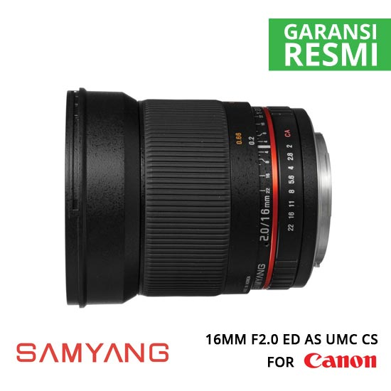 jual Samyang 16mm F2.0 ED AS UMC CS for Canon