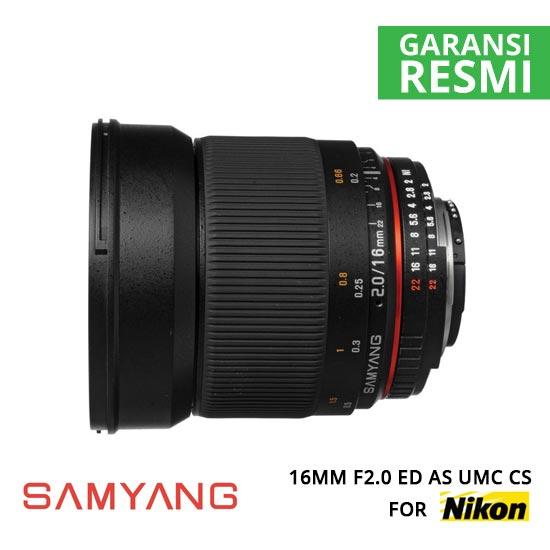 jual Samyang 16mm F2.0 ED AS UMC CS for Nikon AE