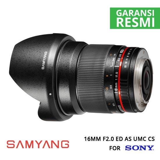 jual Samyang 16mm F2.0 ED AS UMC CS for Sony NEX