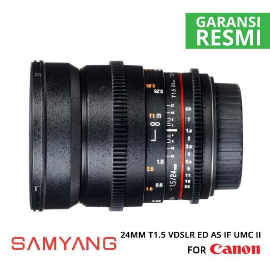 Jual Samyang 24mm T1.5 VDSLR ED AS IF UMC II for Canon Murah. Cek Harga Samyang 24mm T1.5 VDSLR ED AS IF UMC II for Canon disini, Toko Kamera Surabaya Jakarta - Plazakamera.com