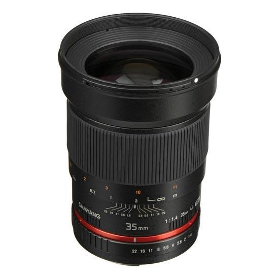 Jual Lensa Samyang 35mm F1.4 AS UMC for Canon AE. Cek Harga Lensa Samyang 35mm F1.4 AS UMC for Canon AE disini, Toko Kamera Online - Plazakamera.com