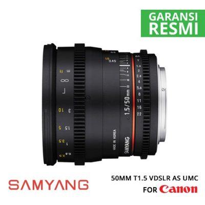 Jual Lensa Samyang 50mm T1.5 VDSLR AS UMC for Canon Murah. Cek Harga Lensa Samyang 50mm T1.5 VDSLR AS UMC for Canon di Toko Kamera Online Surabaya Jakarta Indonesia - Plazakamera.com