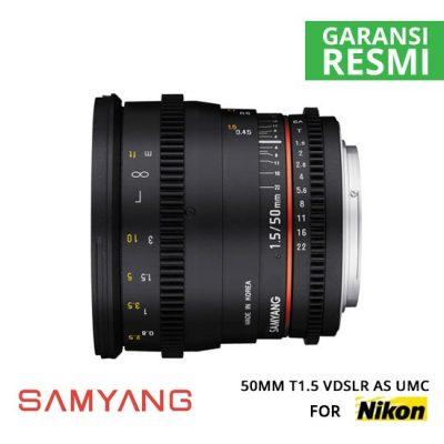 Jual Lensa Samyang 50mm T1.5 VDSLR AS UMC for Nikon Murah. Cek Harga Lensa Samyang 50mm T1.5 VDSLR AS UMC for Nikon di Toko Kamera Online Surabaya Jakarta Indonesia - Plazakamera.com
